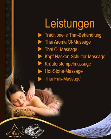 Massage-Leistungen Ubonrat Thai-Massage Stuttgart